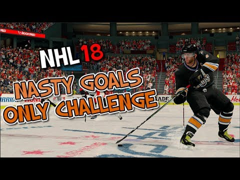 NASTY GOALS ONLY CHALLENGE IN NHL 18!!!!!