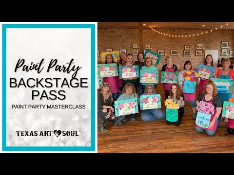 How to Start a Paint Party Business 2-Hour Masterclass Info