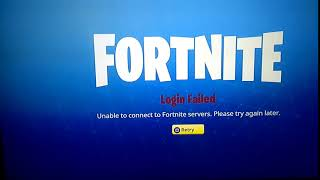Unable to connect to fortnite server /Ps4 Help