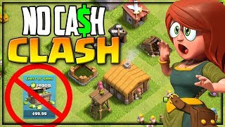 No Cash Clash! I'm Starting OVER in Clash of Clans! Episode 1!