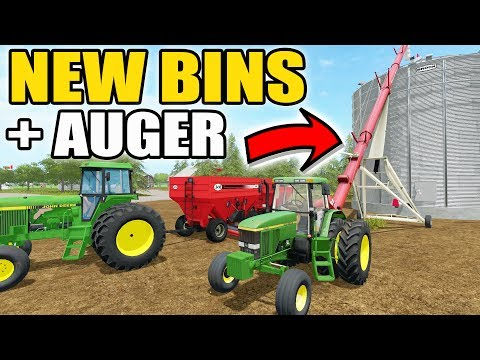 FARMING SIMULATOR 2017 | CASHING IN ON SOYBEANS + NEW GRAIN BINS & AUGERS | MULTIPLAYER