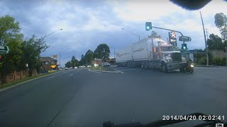 Truck vs Bike vs Red light.