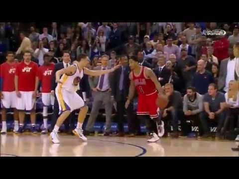 Derrick Rose Victory Step back Jumper   Bulls vs Warriors   27 Gennaio 2015