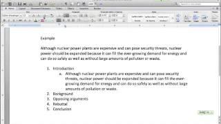 ProCon Essay Outlining