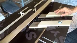 Фрезерный стол из ручного фрезера. Вариант 1.(Стол, прижимная линейка, вертикальный прижим, горизонтальный прижим-гребёнки, каретка для поперечной обраб..., 2014-08-11T10:31:51.000Z)
