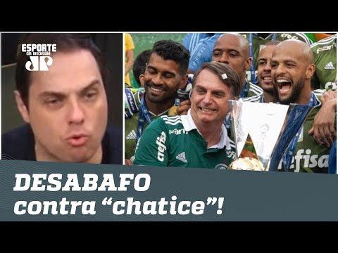 """Críticas a Palmeiras e Bolsonaro? Repórter DESABAFA contra """"chatice""""!"""