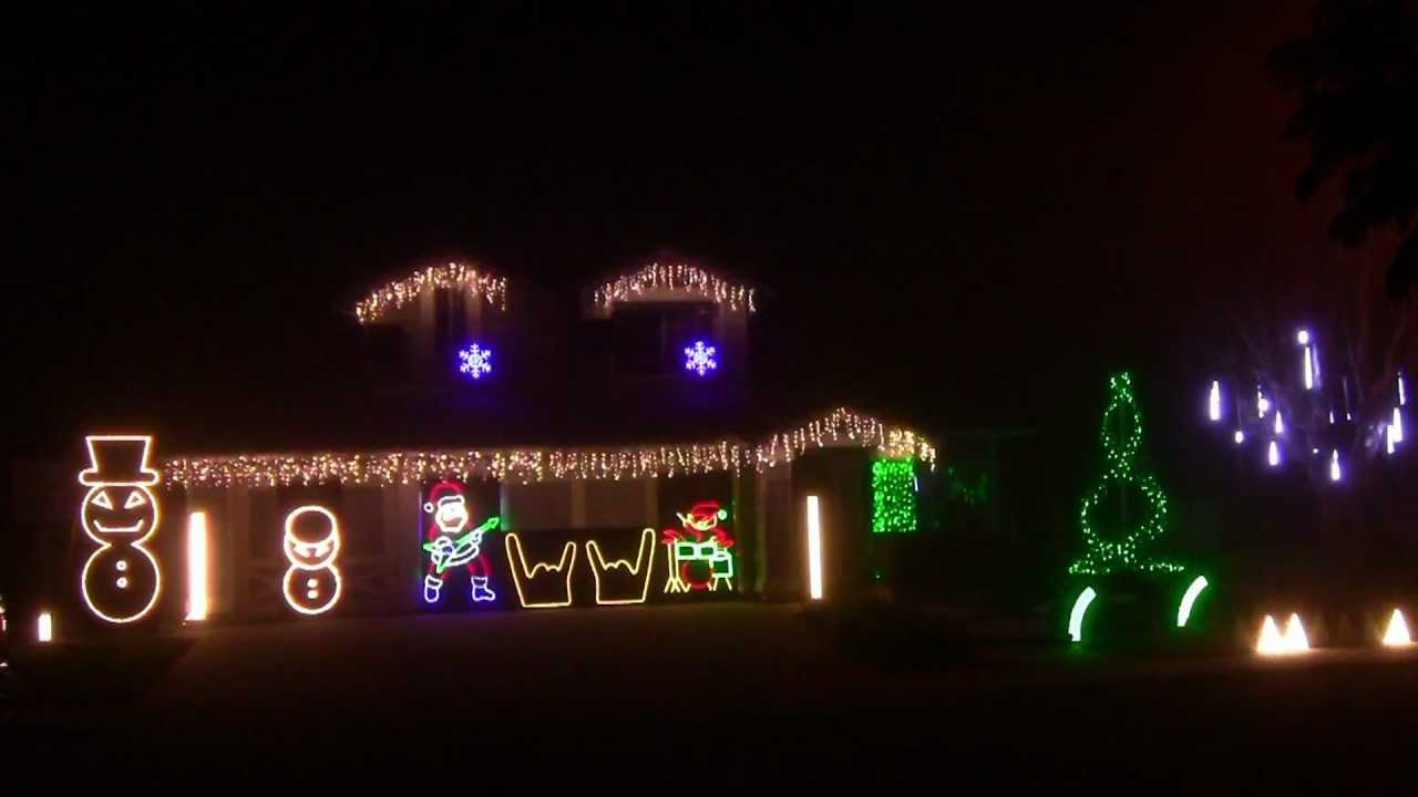 metallica christmas lights 2012 hd lightorama youtube - Heavy Metal Christmas Decorations