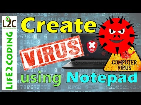 How To Create A Virus Using Notepad