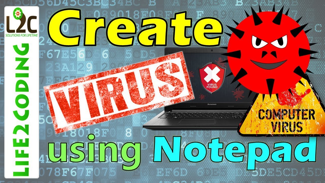 How To Create A Virus Using Notepad Youtube