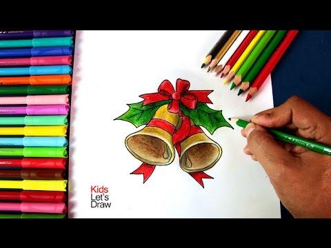 Adornos De Navidad Como Dibujar Campanas De Navidad How To Draw