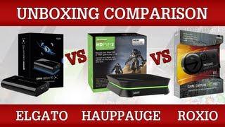 Elgato Game Capture HD vs HD PVR 2 vs Roxio Game Capture HD Pro [Unboxing Comparison]