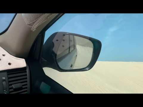 Wüstensafari in Katar - Dünensurfen rückwärts