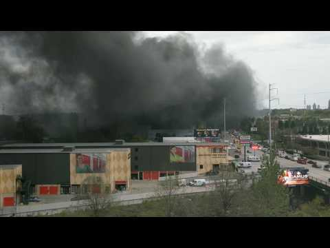 Start of I-85 Fire in Atlanta Part 1