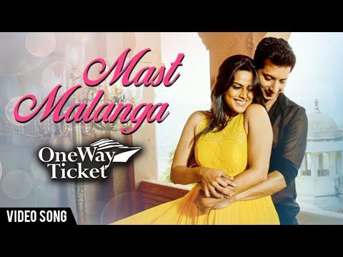 Masta Malanga | VIDEO | Romantic Song | One Way Ticket Marathi Movie | Neha Mahajan, Sachit Patil