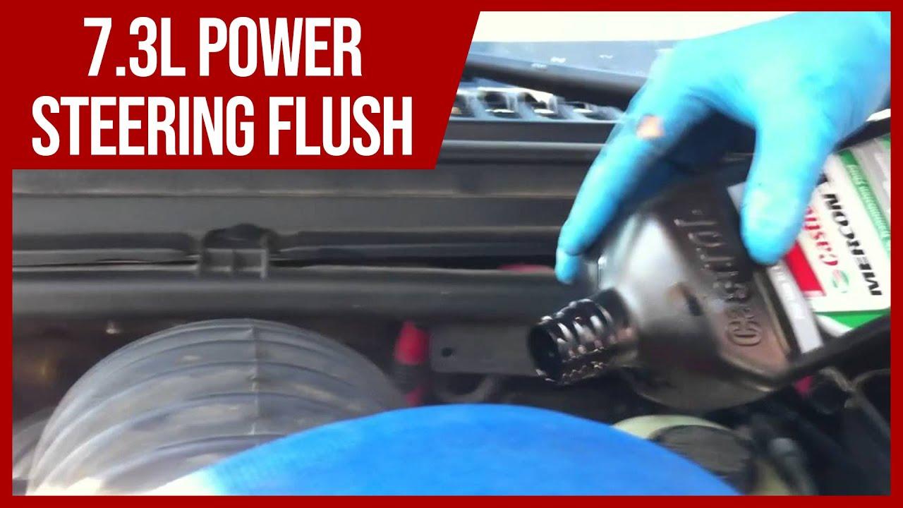 How To Power Steering Flush On 7 3l 6 0l Powerstroke