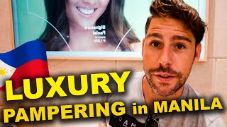 LUXURY in BGC Manila - Foreigner reacts to FILIPINO facial treatment - Philippines Vlog