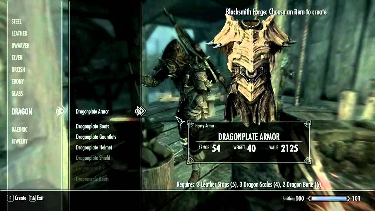 Skyrim Dragonbone Armor Forging Heavy Dragonplate Armor Youtube Created at forge using dragon armour perk (appears in daedric smithing section). skyrim dragonbone armor forging heavy dragonplate armor