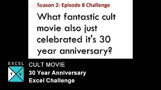 Cult Movie with 30 Year Anniversary - Excel Challenge
