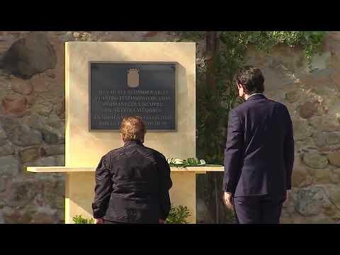 """Castilla y León honra en Segovia a las víctimas de la COVID-19: """"Hay huellas imborrables"""""""