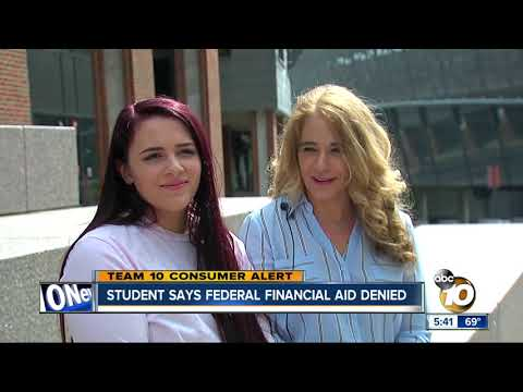 Student Says Federal Financial Aid Denied