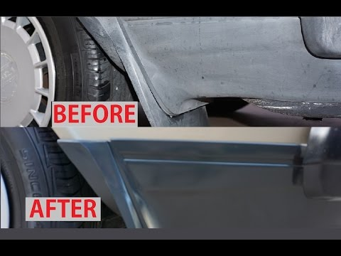 Faded car trim restore molding diy fix rubber plastic how to video youtube Black interior car trim restorer