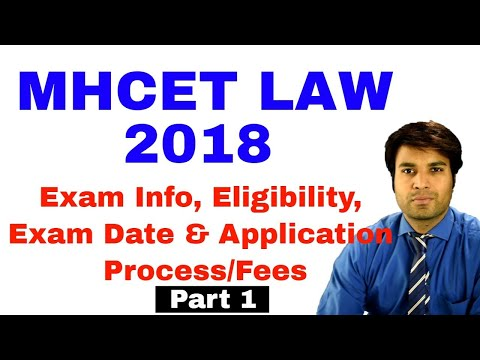 MHCET Law 2018 Part1 Exam Details, Eligibility, Application Form, Syllabus, Exam Pattern,Counselling