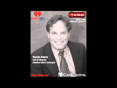 Ronnie Adams CEO of Medical Alarm Concepts Interview on Clear Channel's The Traders Network Show