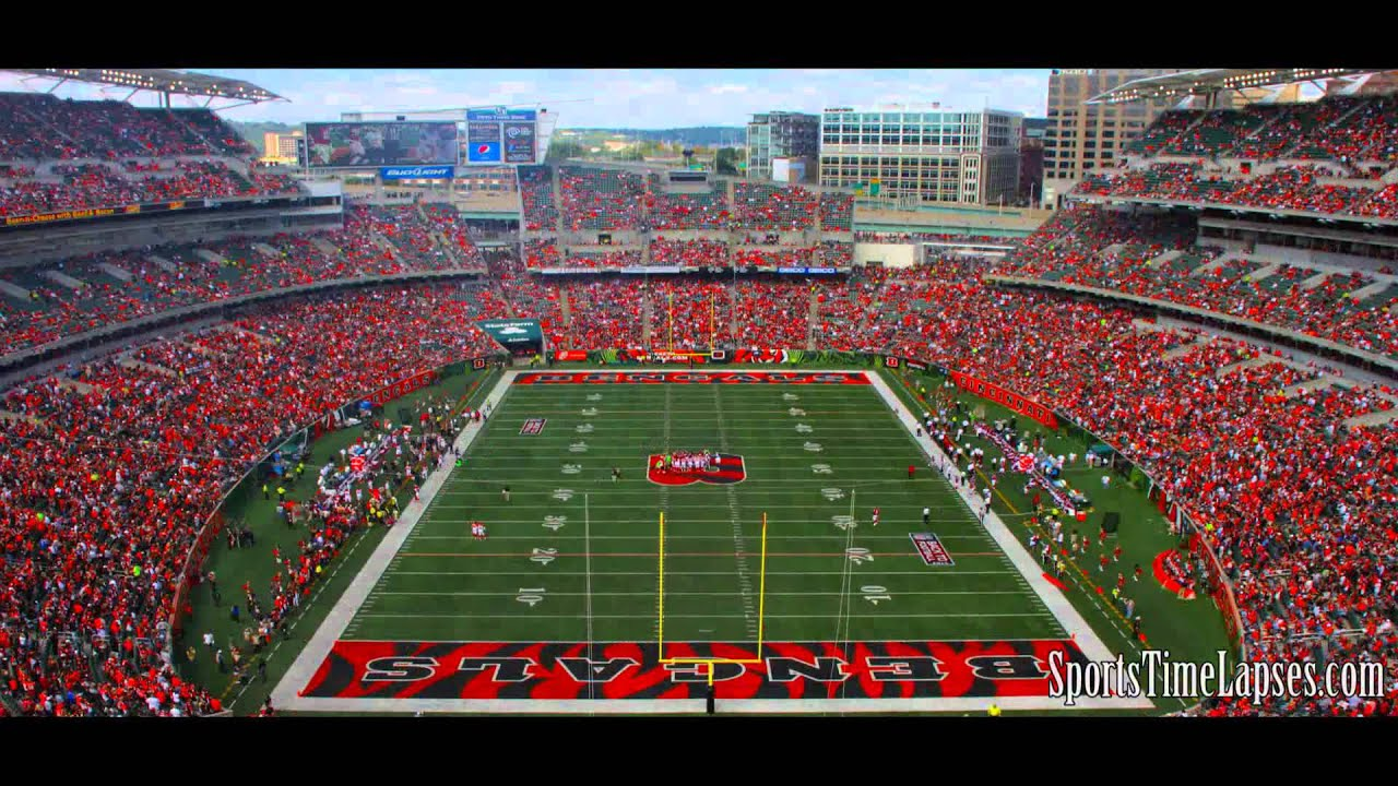 Nfl Time Lapse Paul Brown Stadium End Zone View Youtube