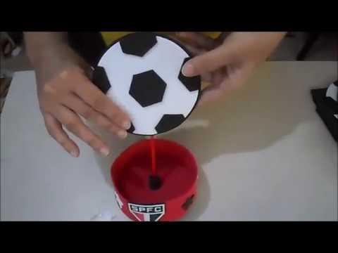 vídeo aula centro de mesa futebol em eva - YouTube e2316a604b3f2