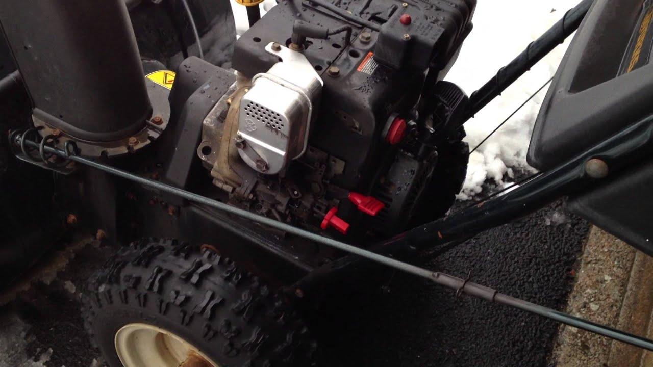Tecumseh 105HP SnowKingYardWorks Snowblower  Start  YouTube