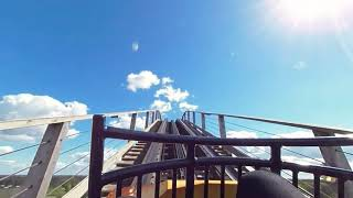 VR 180 3D Roller Coaster - Wooden Coaster Troy Toverland Netherlands VR on-ride VUZE XR