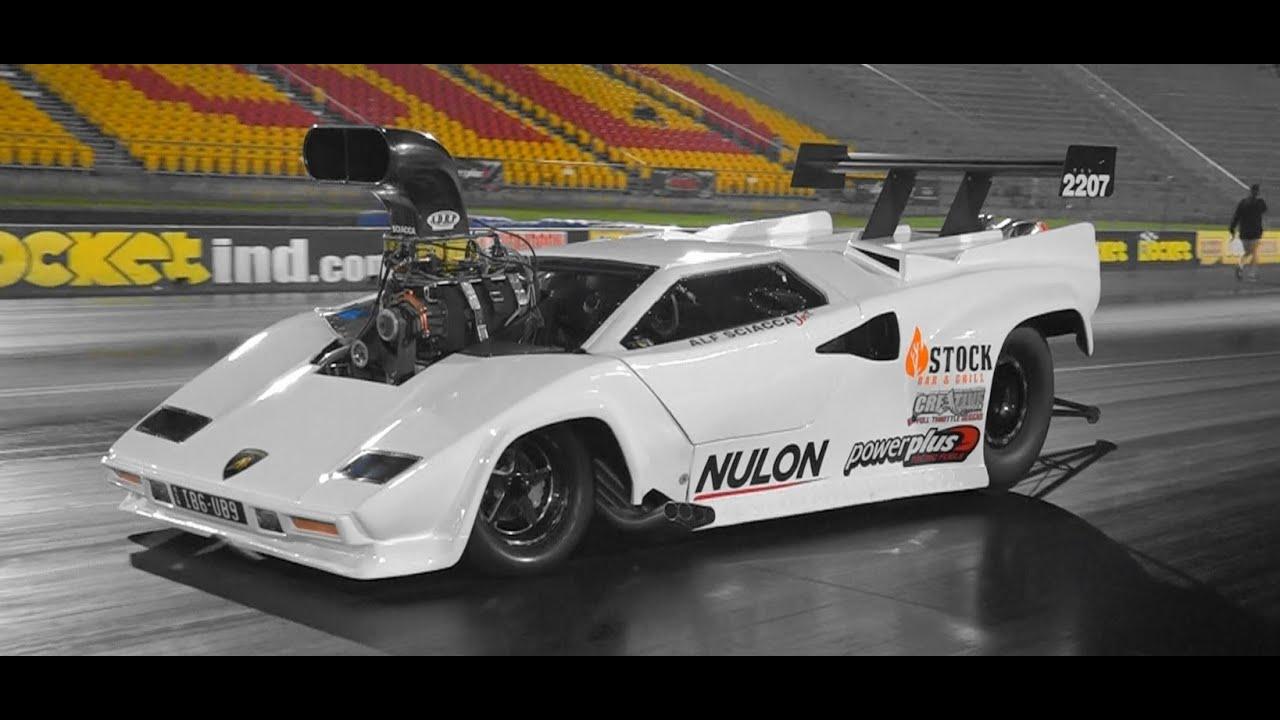 Lamborghini Blown V8 Drag Car Alf Sciacca Racing 7 08 193 Mph Youtube