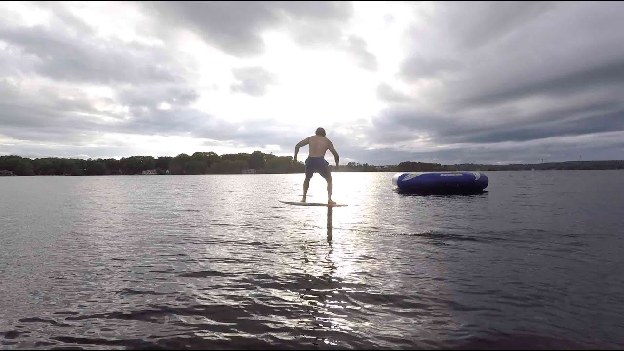 Hydrofoil BUNGEE LAUNCH and pumping (homebuilt foil)