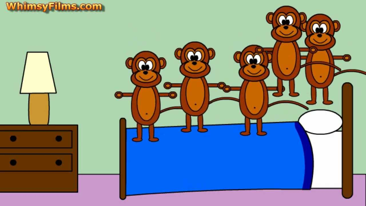 five little monkeys jumping on the bed nursery rhyme song - youtube