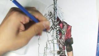 AG #27 - DMC - Old Dante  (Grafite / Lapis de cor) - Speed Draw/ /Paint