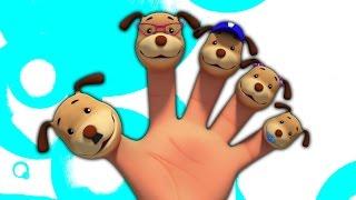 Собаки палец семьи | рифмы для младенцев | Dogs Finger Family | Finger Family Song | 3D Baby Rhymes