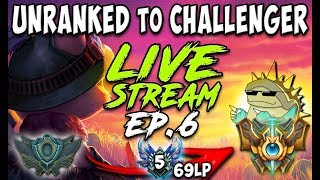 UNRANKED to CHALLENGER SERIES S8E06 | CURRENT RANK: DIAMOND 5 69LP | League of Legends MADNESS