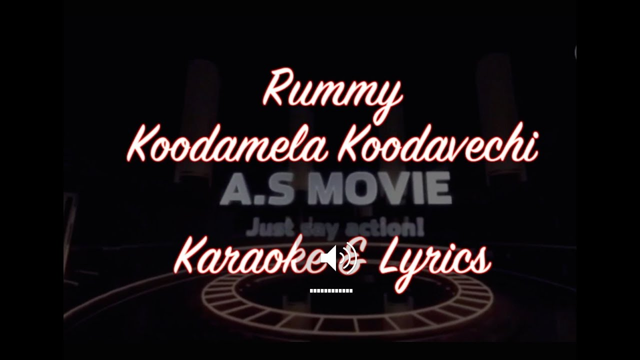 kooda mela kooda vachu karaoke