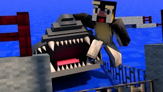 Minecraft | FISHING CHALLENGE - Shark Attack! (JAWS, SHARKS, BOAT MOD)