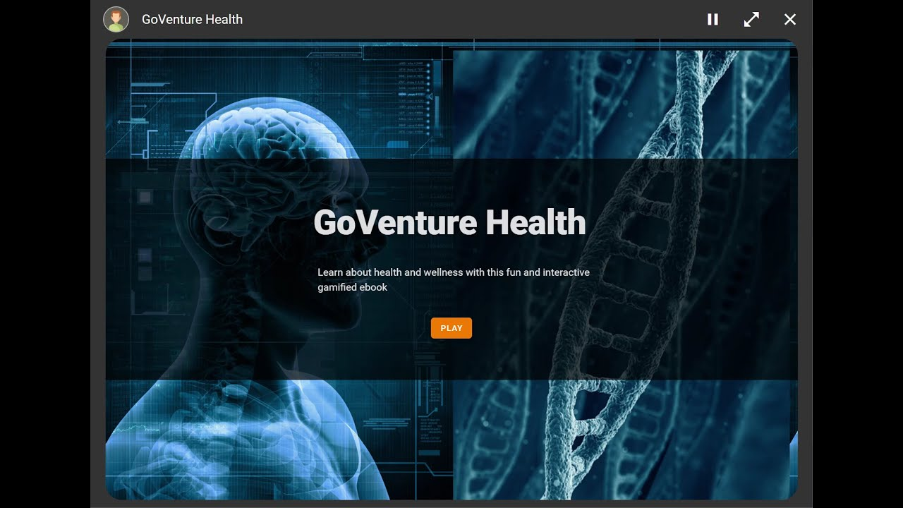 GoVenture Health and Wellness Gamified Ebook Tutorial Video, Health Games