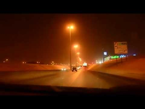 Night street view(HD) of Riyadh City, Saudi Arabia, while driving, PART I