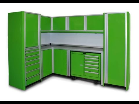 Metal Garage Storage Cabinets - YouTube