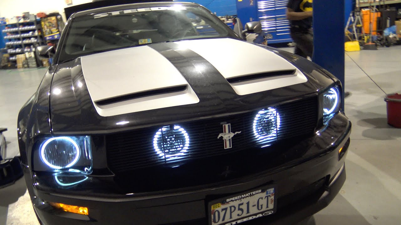 2007 Mustang Gt Led Headlights Amp Halo S Install Youtube