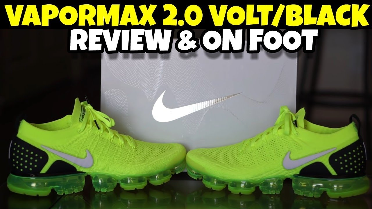 size 40 745b2 86dbe NIKE AIR VAPORMAX FLYKNIT 2 VOLT REVIEW   ON FOOT