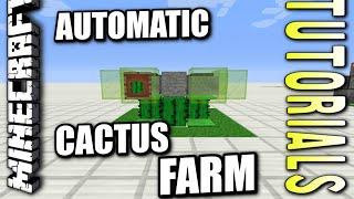 Minecraft PS4 - AUTOMATIC CACTUS FARM [ simple ] Tutorial ( PE