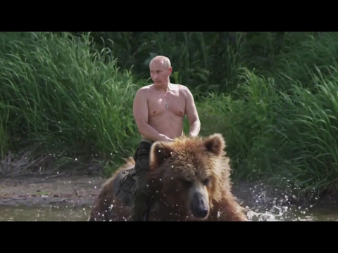 Putin on a Bear (Real Footage)
