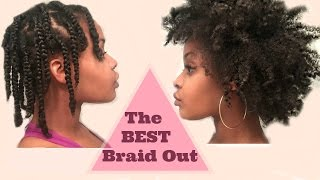 the best fluffy braid out  4c natural hair