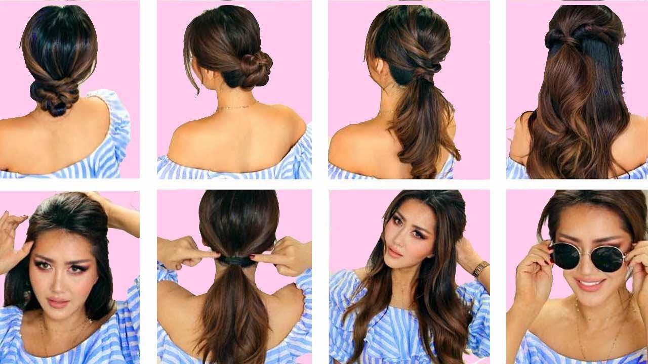 TOP 5  LAZY EVERYDAY HAIRSTYLES with PUFF  QUICK  EASY BRAIDS  UPDO for Long  Medium HAIR