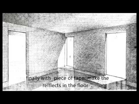 Pencil Shading Of Interior Perspective Example Youtube
