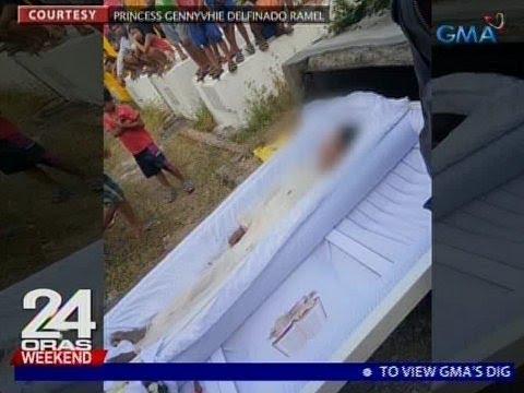 24 Oras: Relo at pera, ninakaw sa kabaong ng kalilibing lang na bangkay
